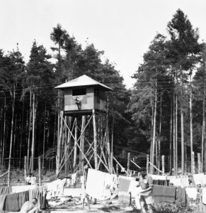 Watchtower with searchlight @ Lamsdorf Prisoner Of War Camp.