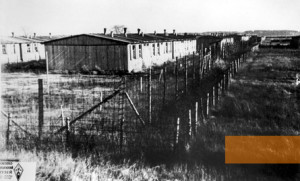 Lamsdorf, undated, POW camp barrack,