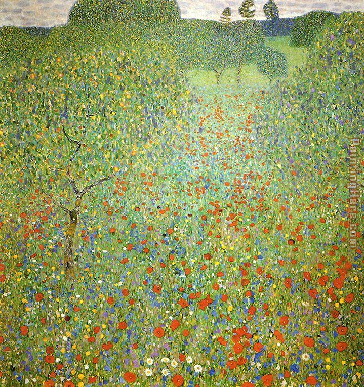 Gustav Klimt - Poppy Fiel