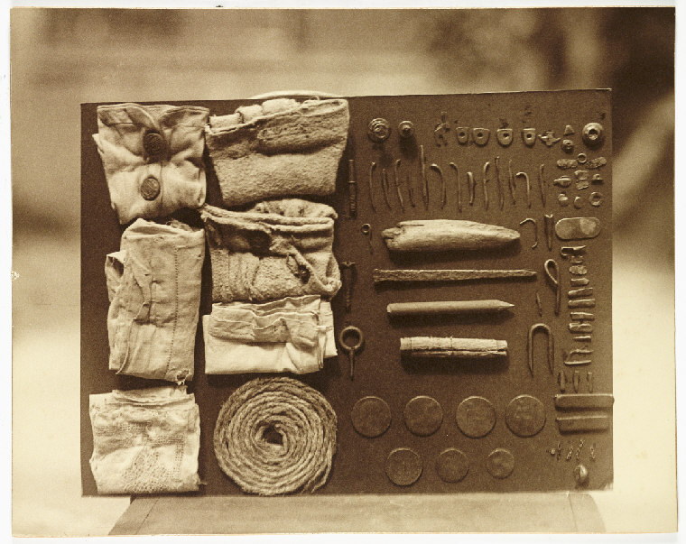 Contents of an ostrich's stomach (c1930) by Frederick William Bond