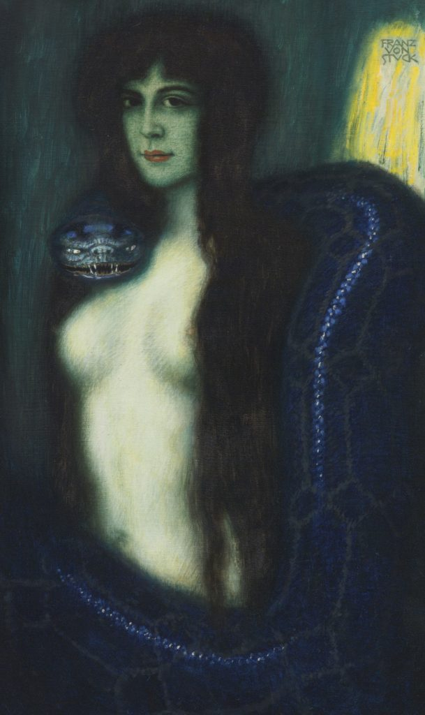 Franz von Stuck GERMAN DIE SÜNDE (THE SIN)