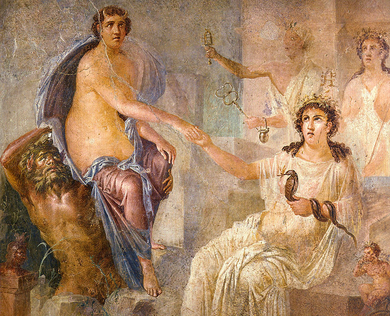 Isis (seated right) welcoming the Greek heroine Io