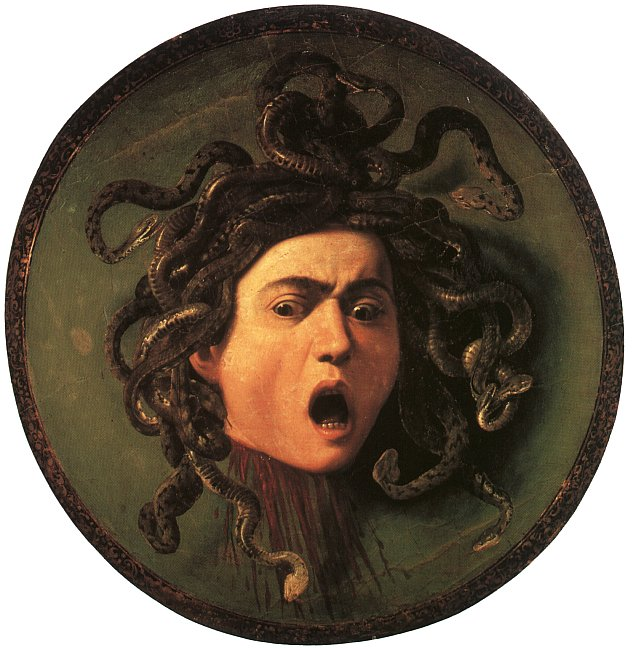 Medusa, by Caravaggio (c 1598)