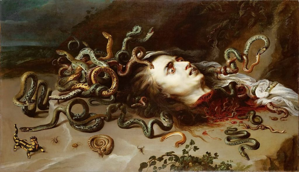 Medusa painting by Rubens c.1618
