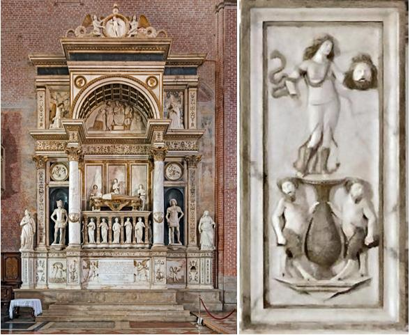 tomb of the Doge Andrea Sellmin, realized by Tullio Lombardo