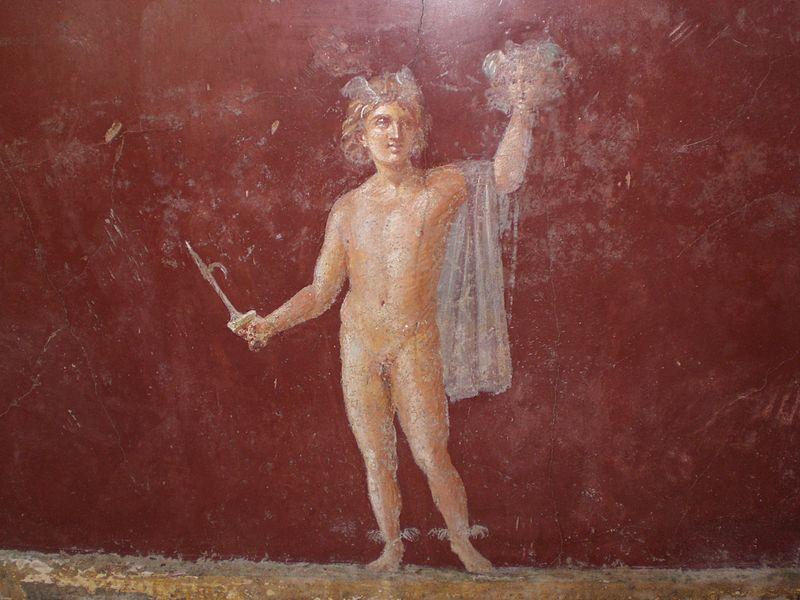 Roman fresco at Villa San Marco, Stabiae, Italy