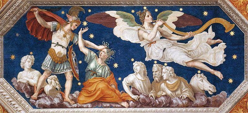 Fresco by Baldassarre Peruzzi, Medusa c. 1510-1511