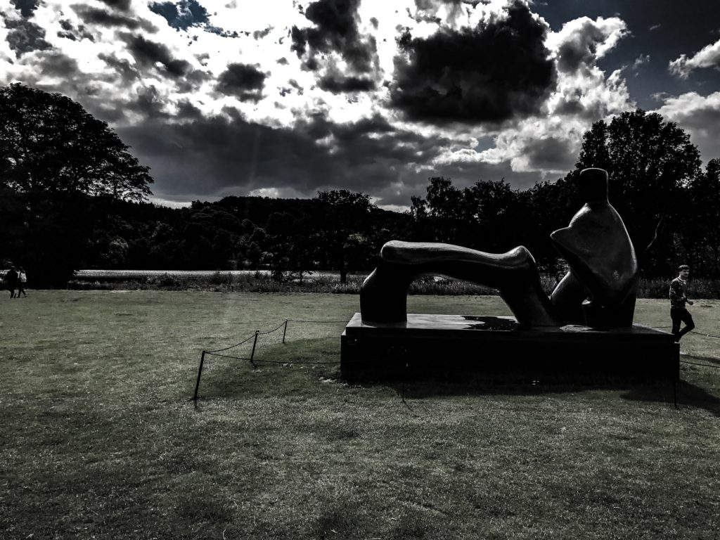 Henry Moore Sculpture - Reclining Figure - 1969 - 1970 - photographed by Roland Keates