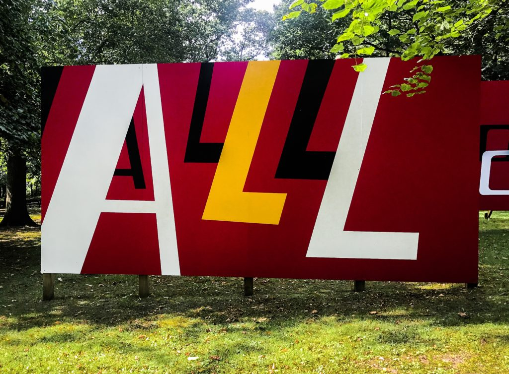 Patrick Brill aka Bob and Roberta Smith - All Schools Should Be Art Schools featured at Yorkshire Sculpture Park