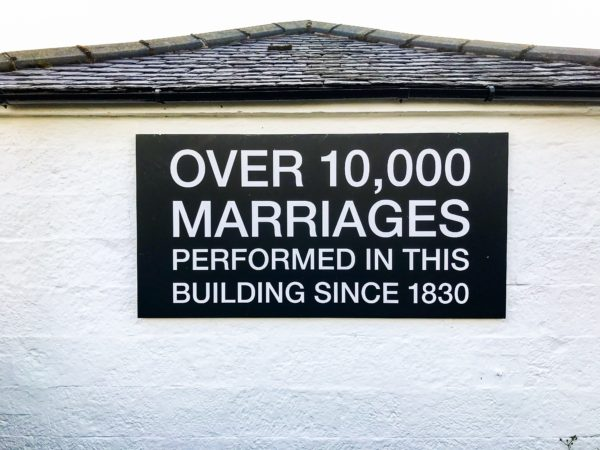 Gretna Green the history of anvil weddings.