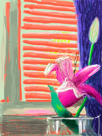 David Hockney - iPad art work
