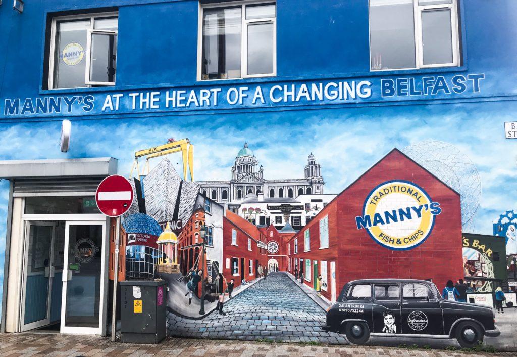 Manny's Fish and Chips, Belfast, Street Art, Belfast, Murals, Northern Ireland