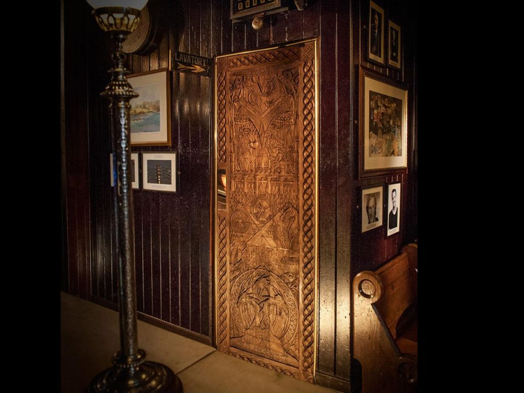 Game of Thrones crafted door at Blakes of the Hollow