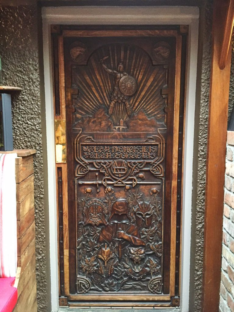 Game of Thrones door at Mary McBride's inn, Northern Ireland