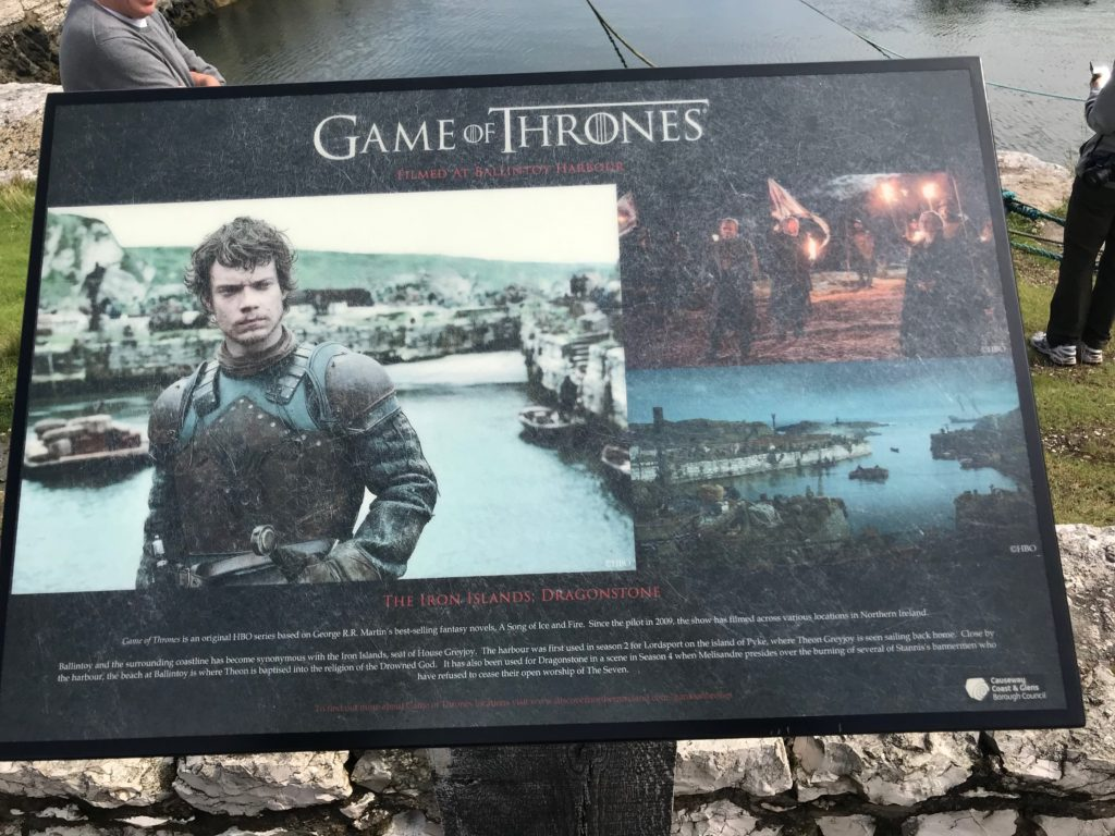 Game of Thrones filming location at Port of Ballintoy