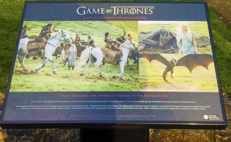 Signage board from the Game of Thrones, Northern Ireland