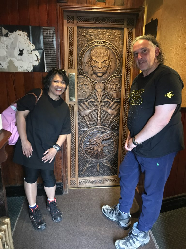 Game of Thrones crafted door at Owens Inn, Limavady, Co Derry