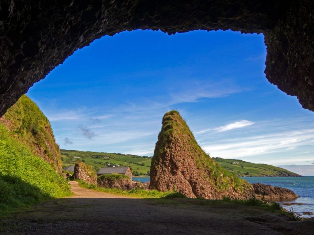 Game of Thrones filming location at The caves of Cushendun