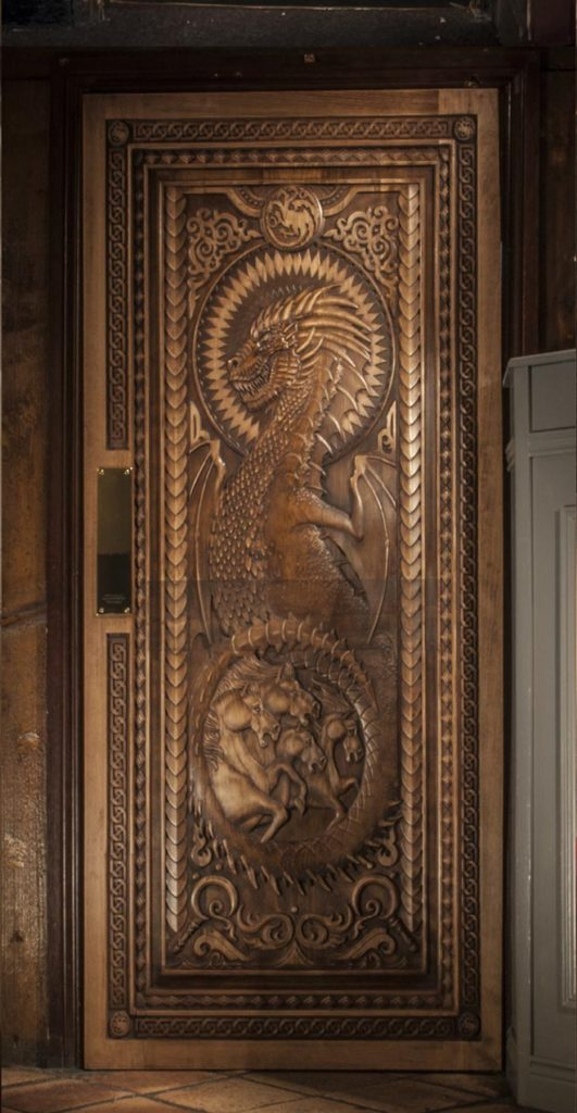 Fullerton arms door, crafted The Game of Thrones