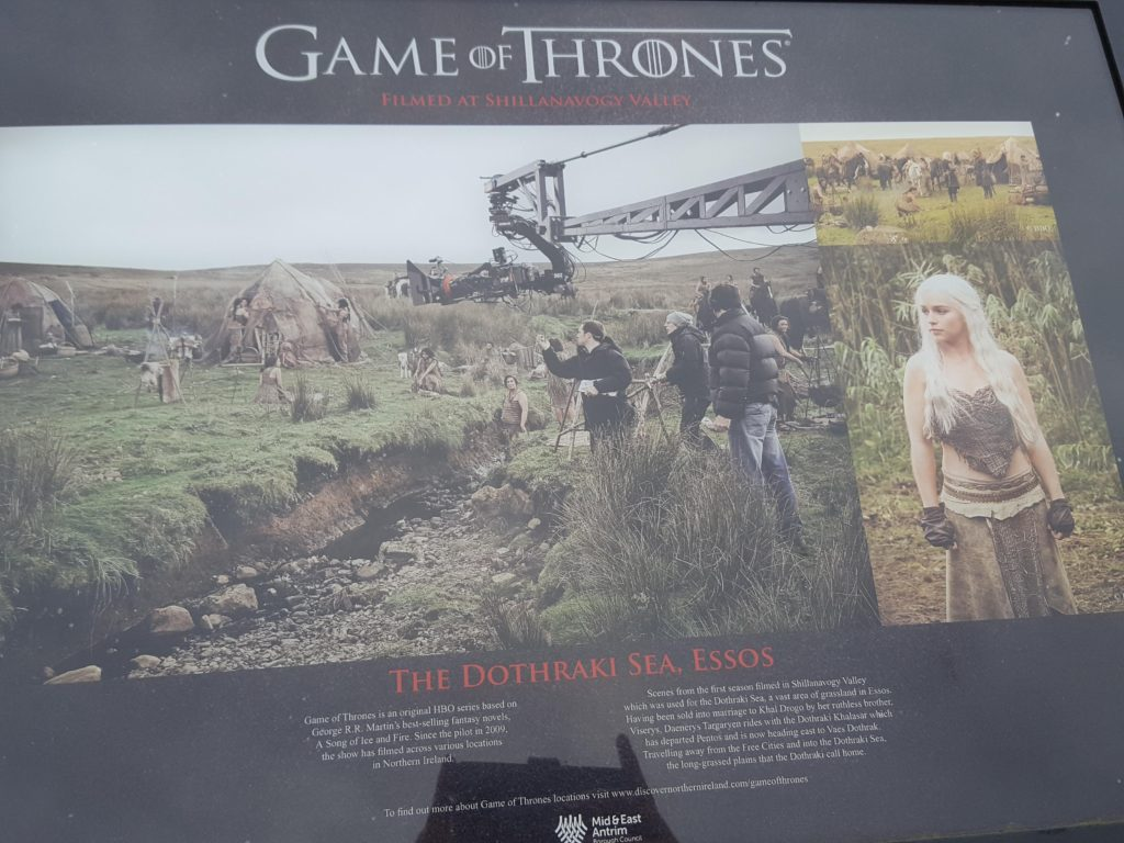 Game of Thrones Filming used in Northern Ireland -Grasslands in Essos